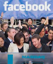Facebook goes public in 2012